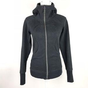 Lululemon Scuba Hoodie Black Cotton Fleece Jacket